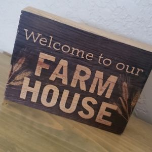 Rustic Wooden Farmhouse Sign